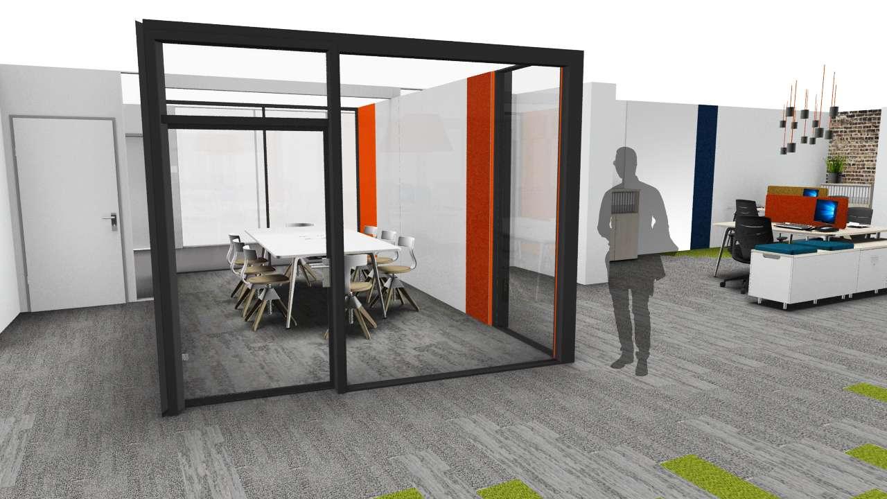 Vue 3D Aménagement Open Space
